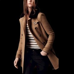 Authentic Burberry Brit Wool Peacoat Camel size 4